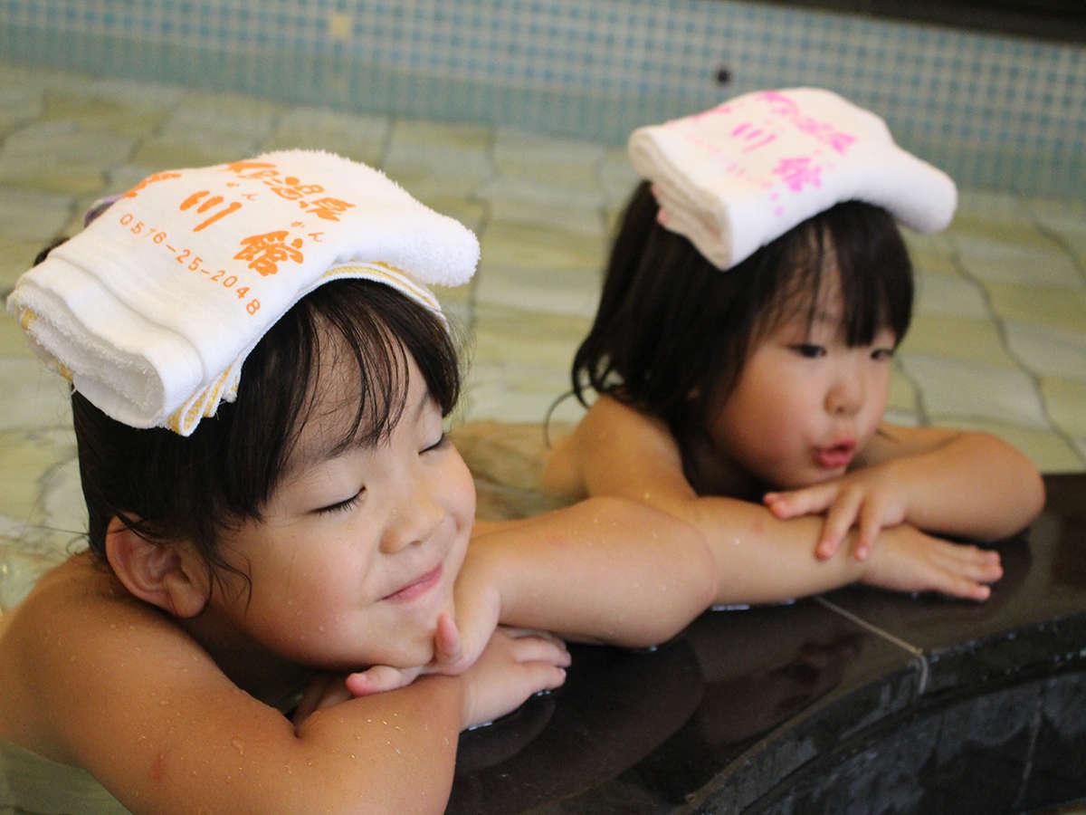 「いい湯だな~♪」子どもたちもゆっくり温泉満喫★男性浴場こども風呂