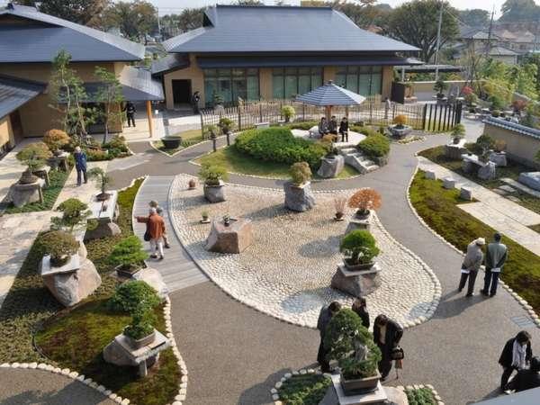 盆栽の街・大宮にある、さいたま市大宮盆栽美術館の庭園風景。