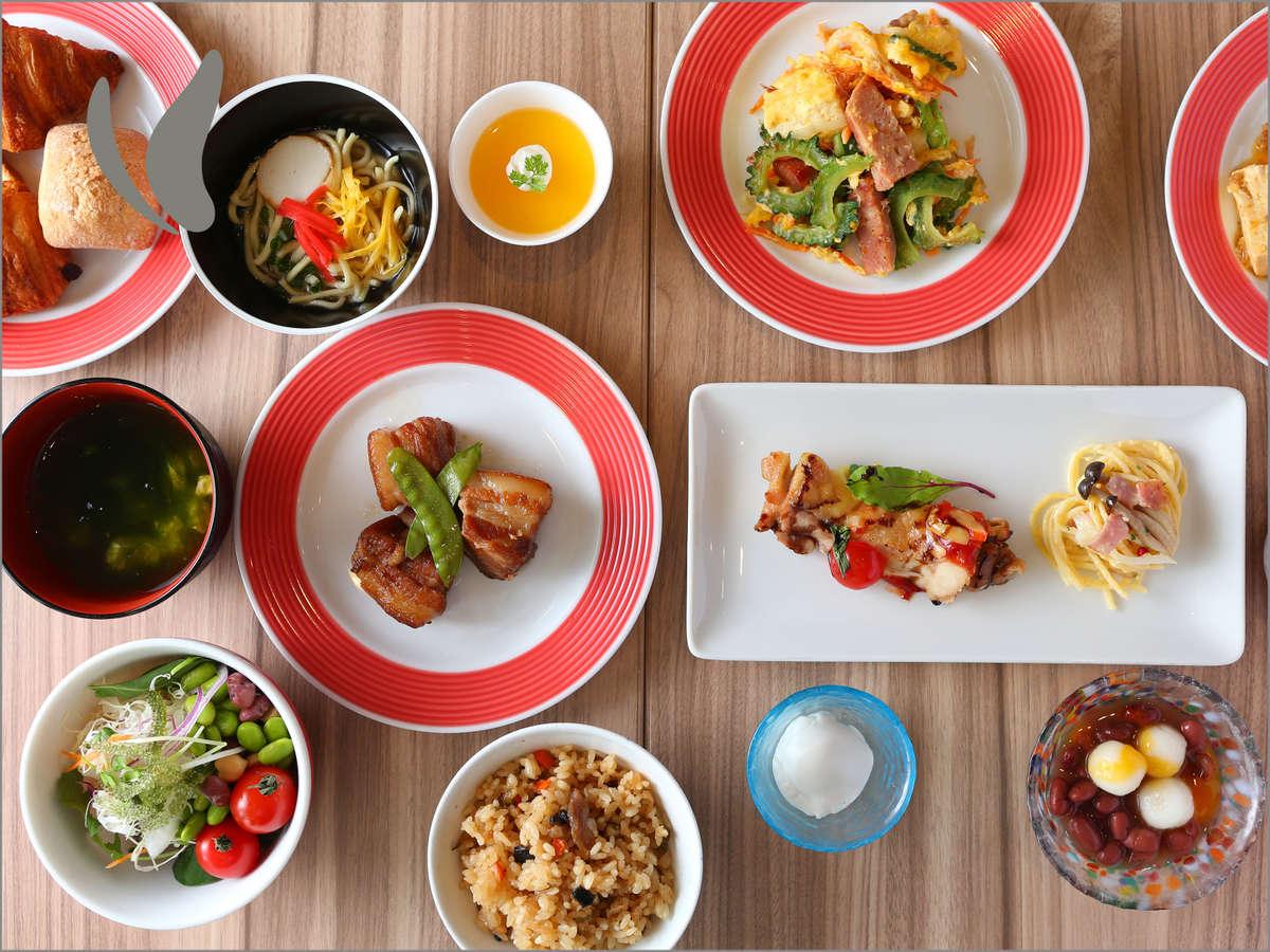 こだわりの沖縄食材を使用した充実の朝食ビュッフェ♪