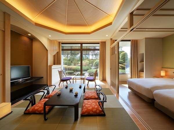 Japaneseスイート『桐』和洋室(58.9㎡)定員4名様のお部屋です。