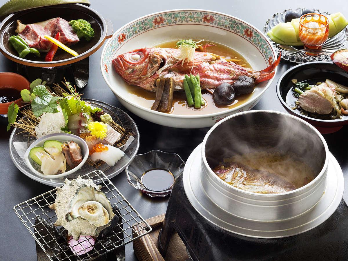 海の幸の天然ものの美味しさをご堪能下さいませ。※料理は一例です