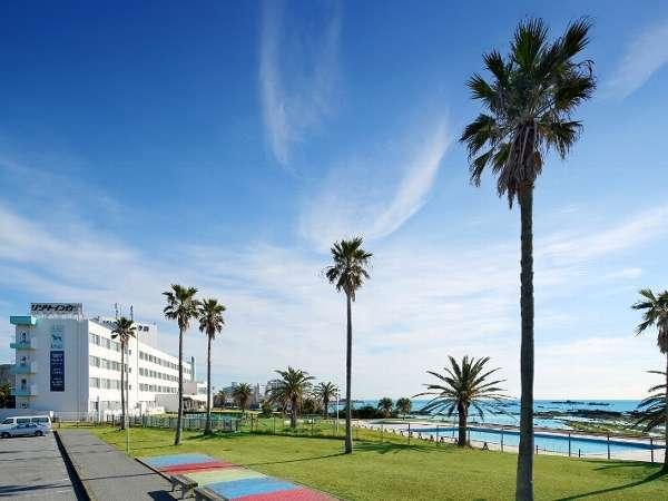 南房総白浜で唯一、海岸通りより海側にたたずむ全室オーシャンビューのホテル。