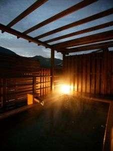 <展望露天風呂>津和野で一番お月様がきれいに見える、展望露天風呂(5階・天然温泉