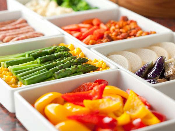 朝食ビュッフェ 温野菜イメージ
