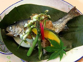 *ご夕食一例 焼き魚 山の恵み・川の恵みをご堪能下さい♪