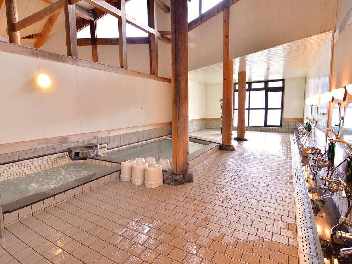 *【大浴場ぶどうの湯】遠赤外線サウナ、水風呂、バブルバス完備。