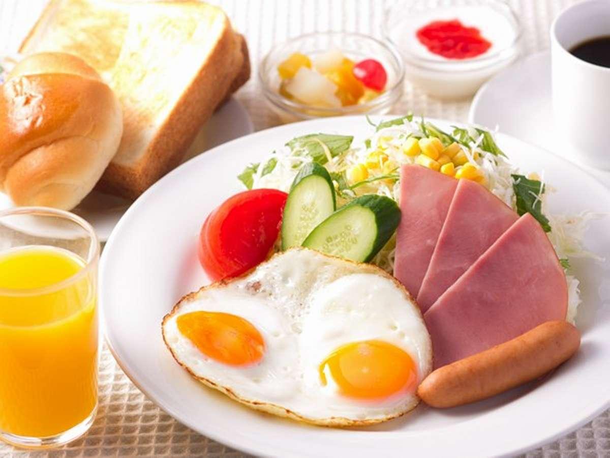 【洋朝食】お野菜たっぷりの洋朝食。無添加ジュース付き♪