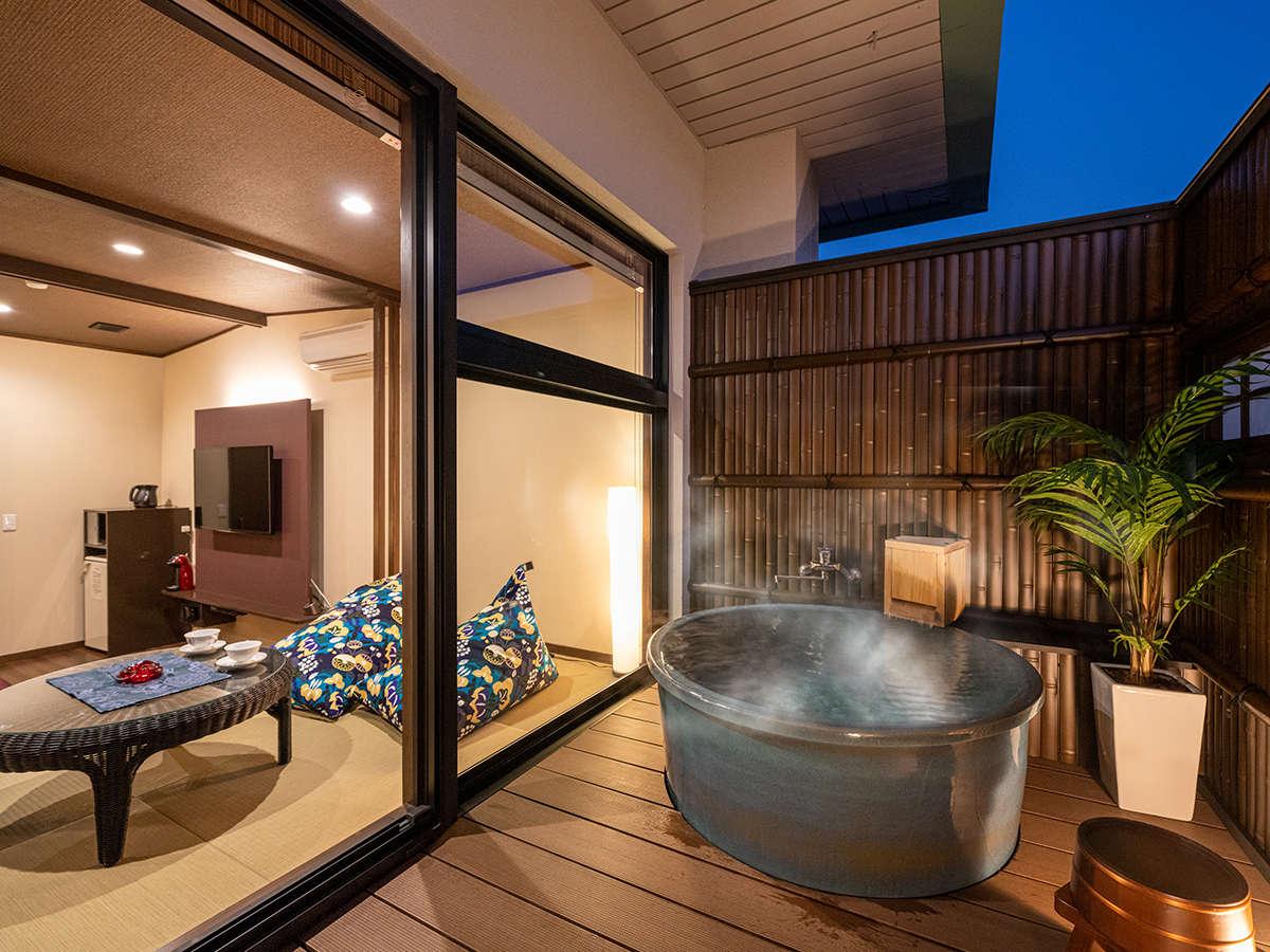 ■リニューアル 和洋室ツインのお部屋『五葉』。トロトロ、美肌の温泉を独り占め!