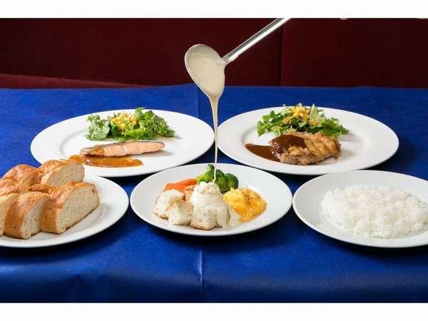 朝食☆メインプレート&チーズフォンデュ☆