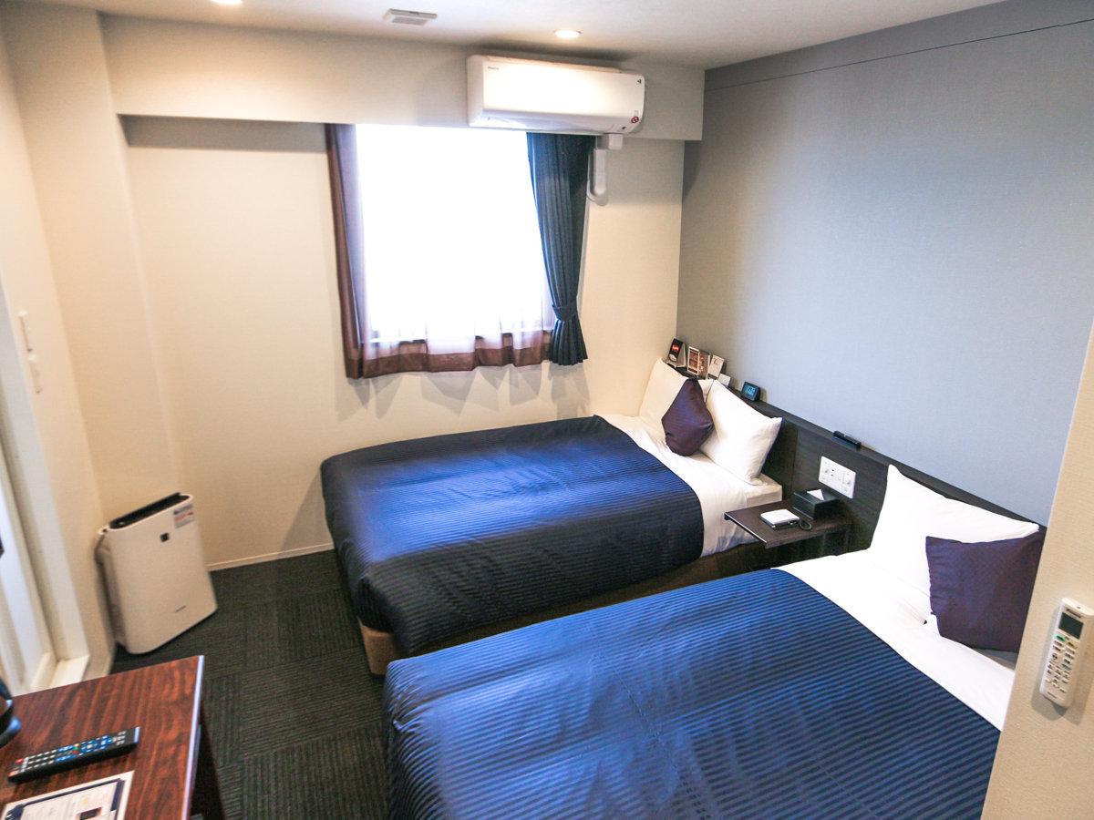 ◆ツインルーム◆全室スセミダブルベッドを完備しております。エキストラベッドのご用意はありません。