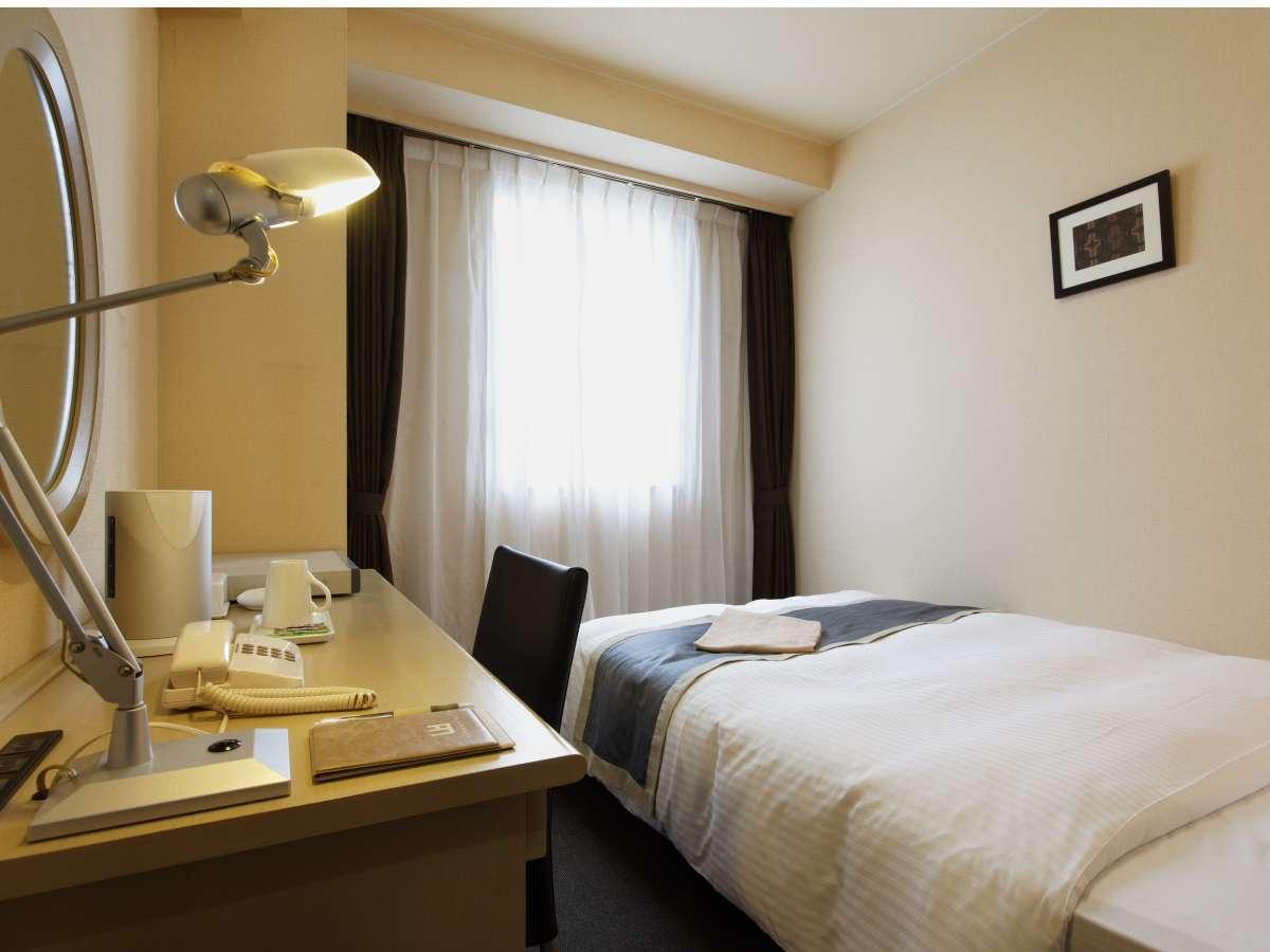 スタンダードシングルルーム:最もシンプルなお部屋です。
