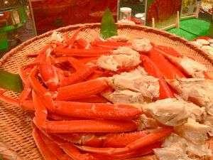 夕食にはずわい蟹の食べ放題
