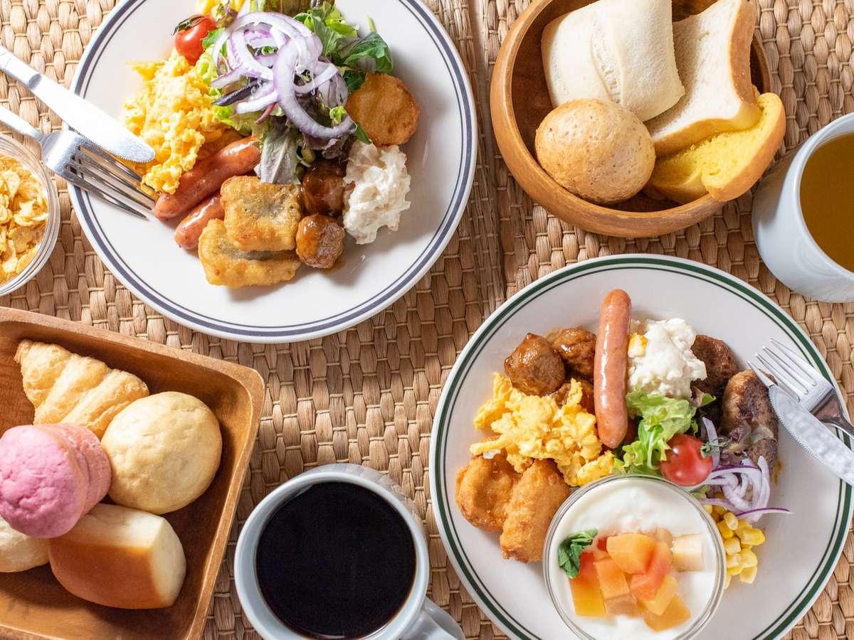 一日の元気の源は朝食から♪ホテルスタッフで試行錯誤した自慢の朝食ビュッフェを是非ご利用ください。