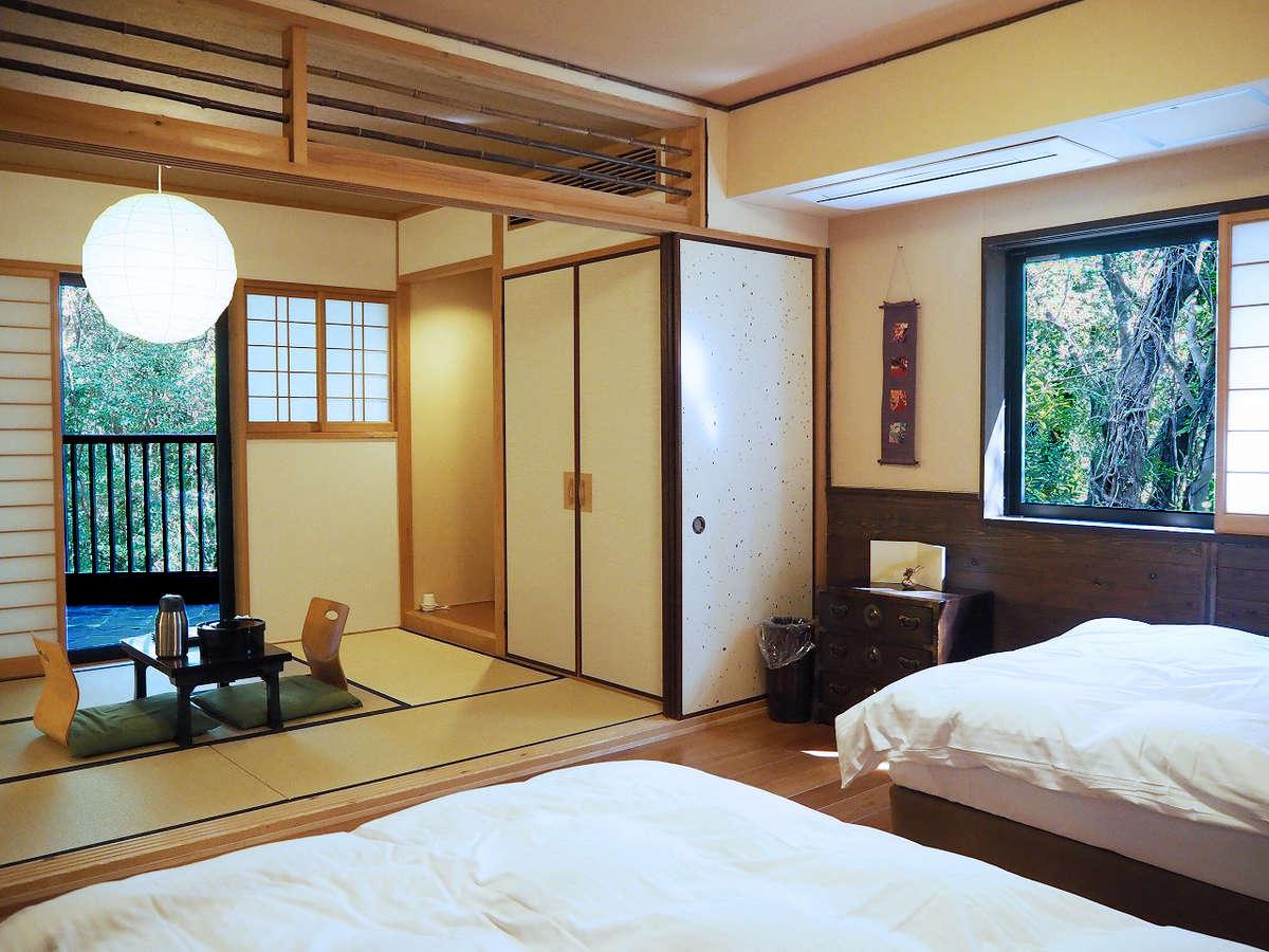 【風】1階・露天風呂付客室