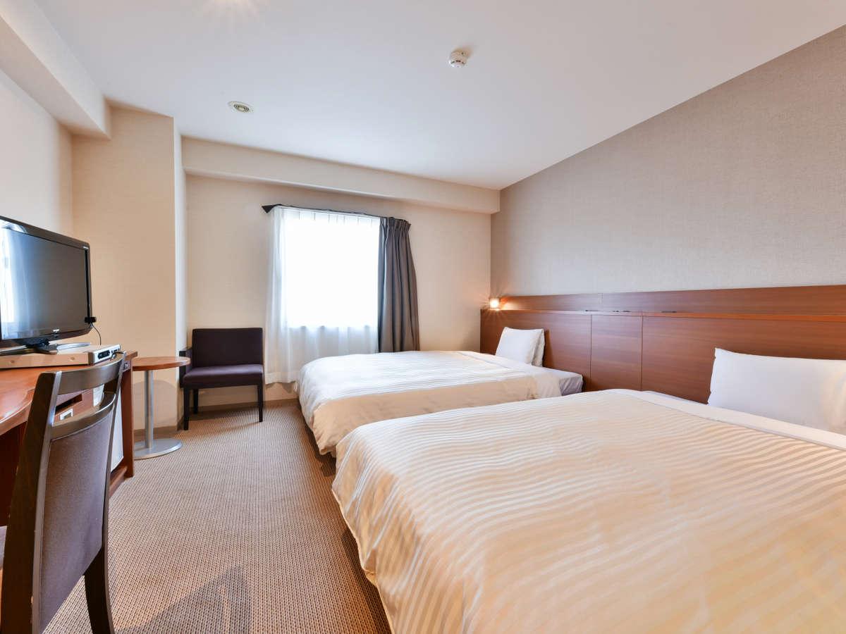 2ベッドルーム(幅150cmのベッド2台です)