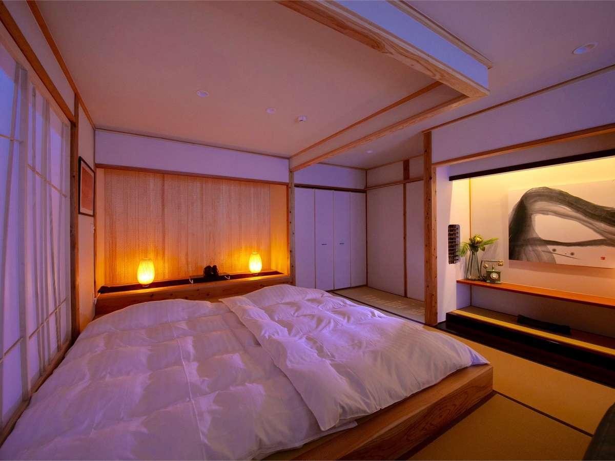 ■錫 -suzu-■ 露天付き離れ客室/快適さと和の心地よさを併せ持つ客室
