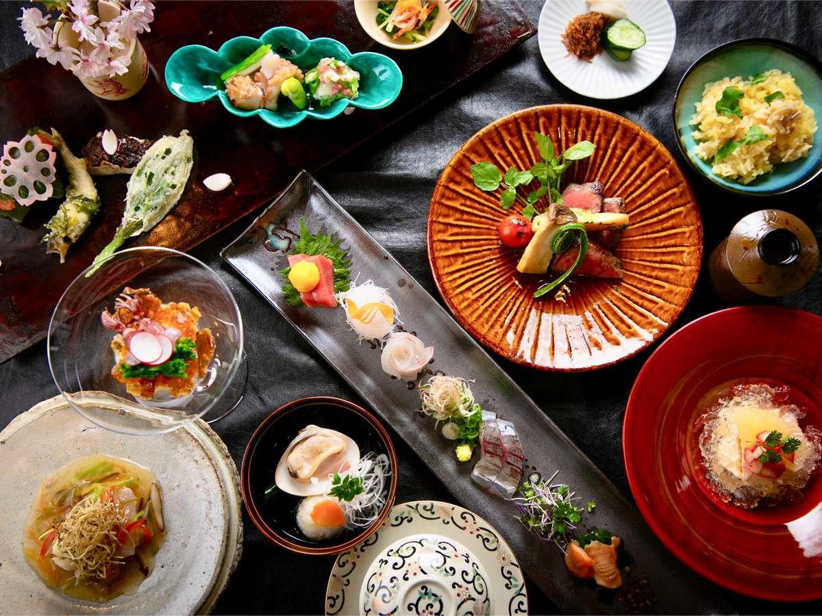 ■DEN RIKYU 会席■四季を彩る食材をふんだんに使用し、ここでしか味わえない美味。