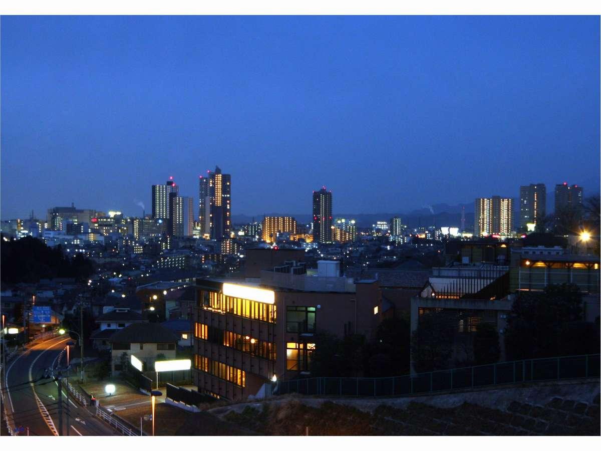 屋上からの橋本市街地夜景