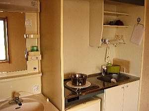 【通常タイプ】全部屋に単身用ワンルーム並みのミニキッチンが完備