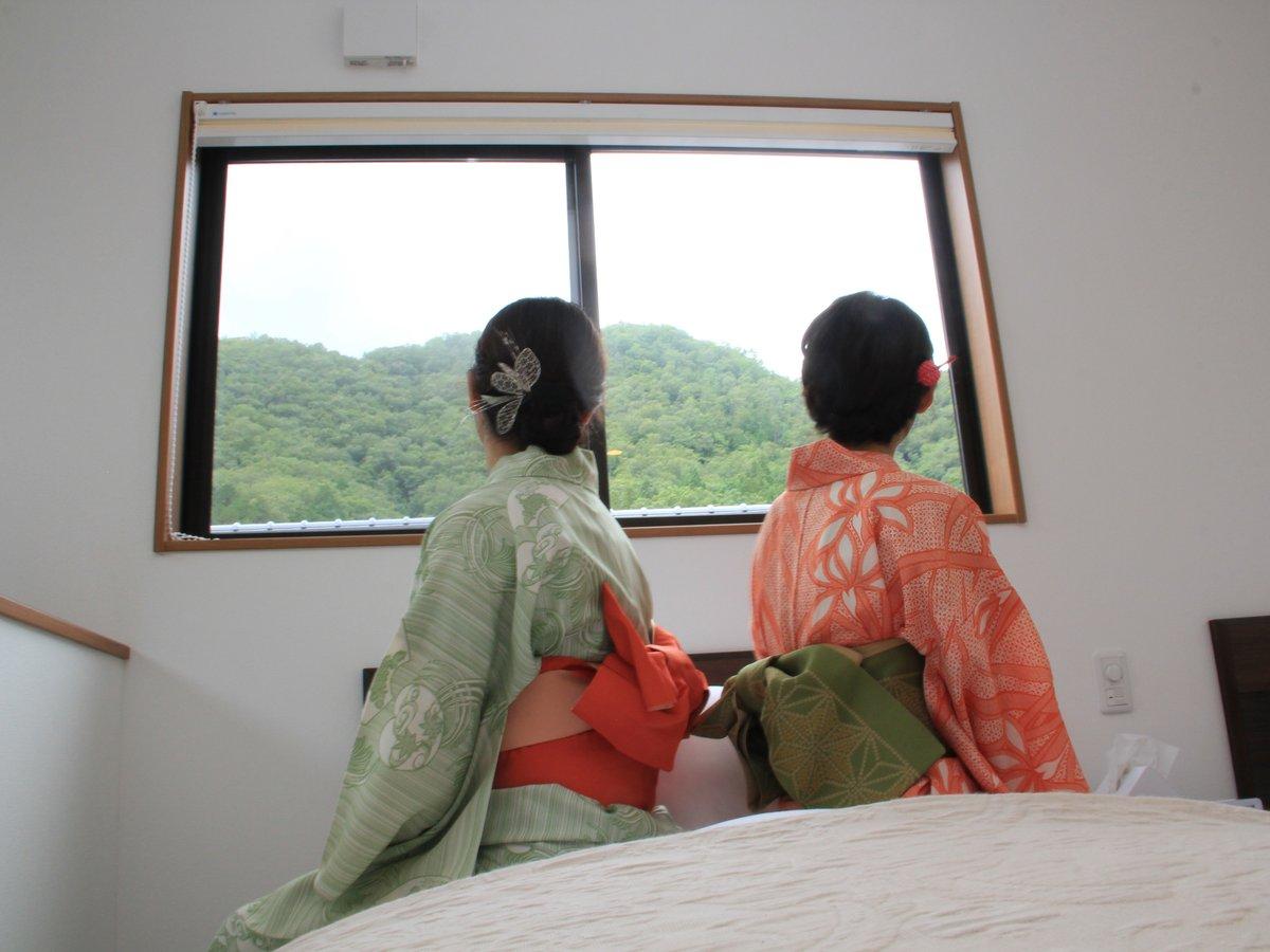 【竹田城跡が見えるお部屋もありますよ!】
