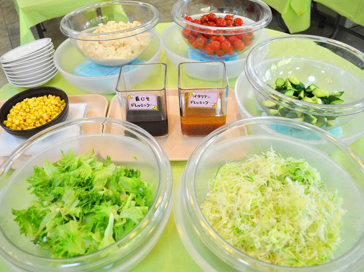 【朝食】フレッシュな沼田町産のレタスを使用しています