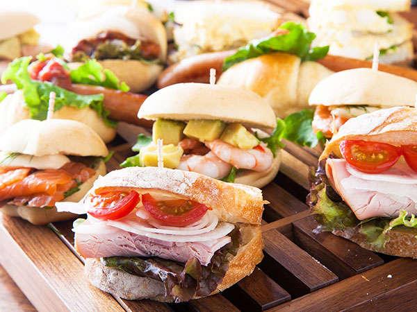 SAKURA TERRACEの朝食♪おいしいサンドイッチはいかがですか