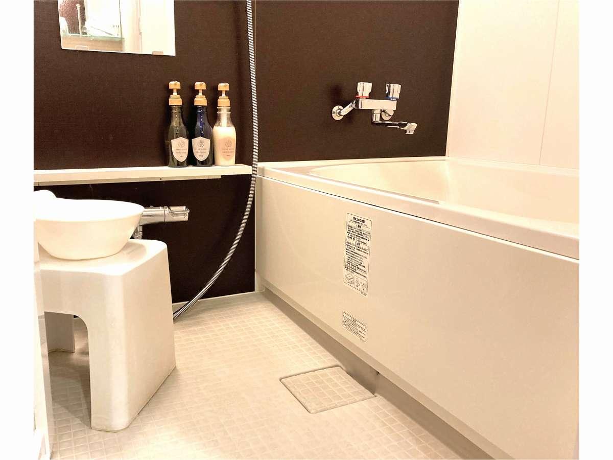 座れる洗い場付きのお風呂