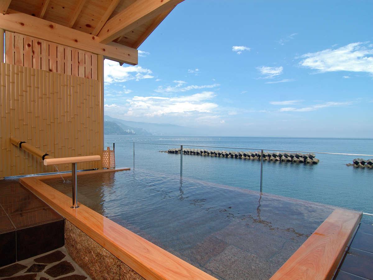 空に浮かぶ貸切露天風呂 潮彩 相模湾を独占できます