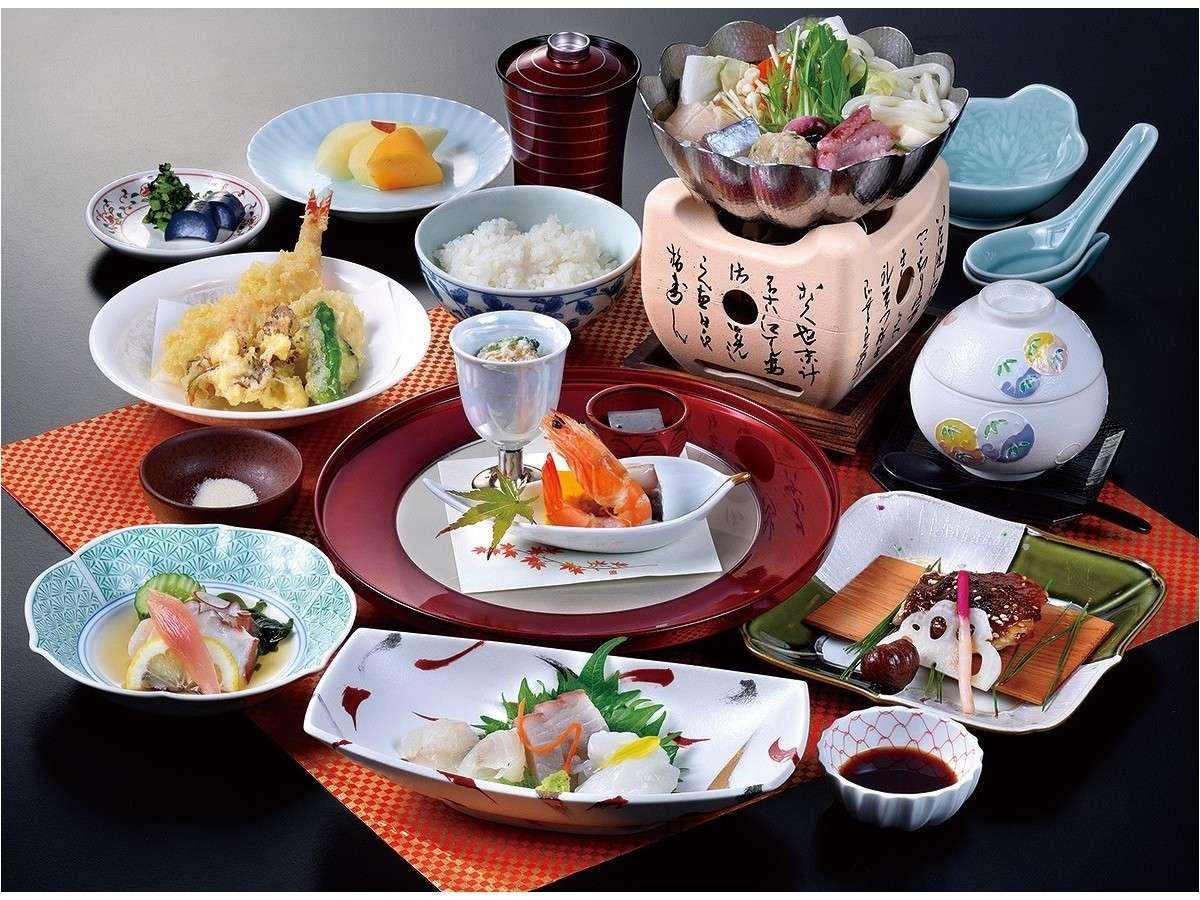 お食事処「花鳥風月」ご夕食会席一例