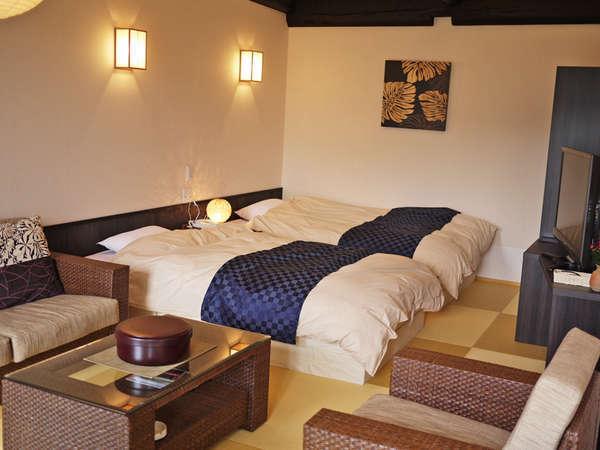 露天風呂客室【善住坊】快適なベッド付のお部屋もございます