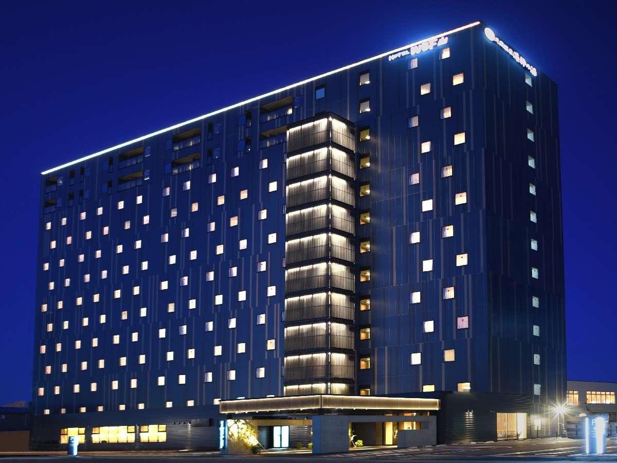 ホテルWBF函館 海神の湯(外観夜景):2019年10月OPEN!源泉かけ流しの天然温泉あり。