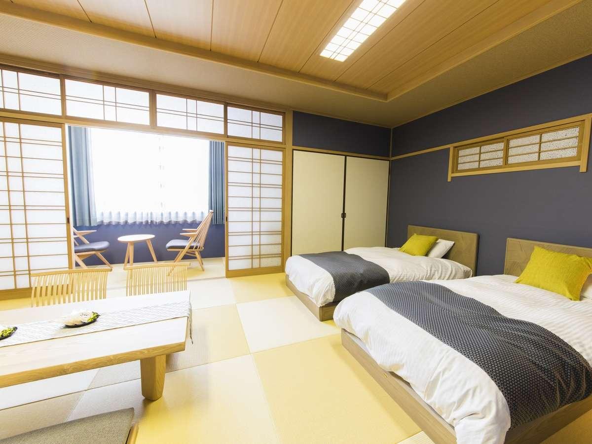 DX和室イメージ*ベッドは世界のシモンズベッドを使用◆広めのお部屋となっております。