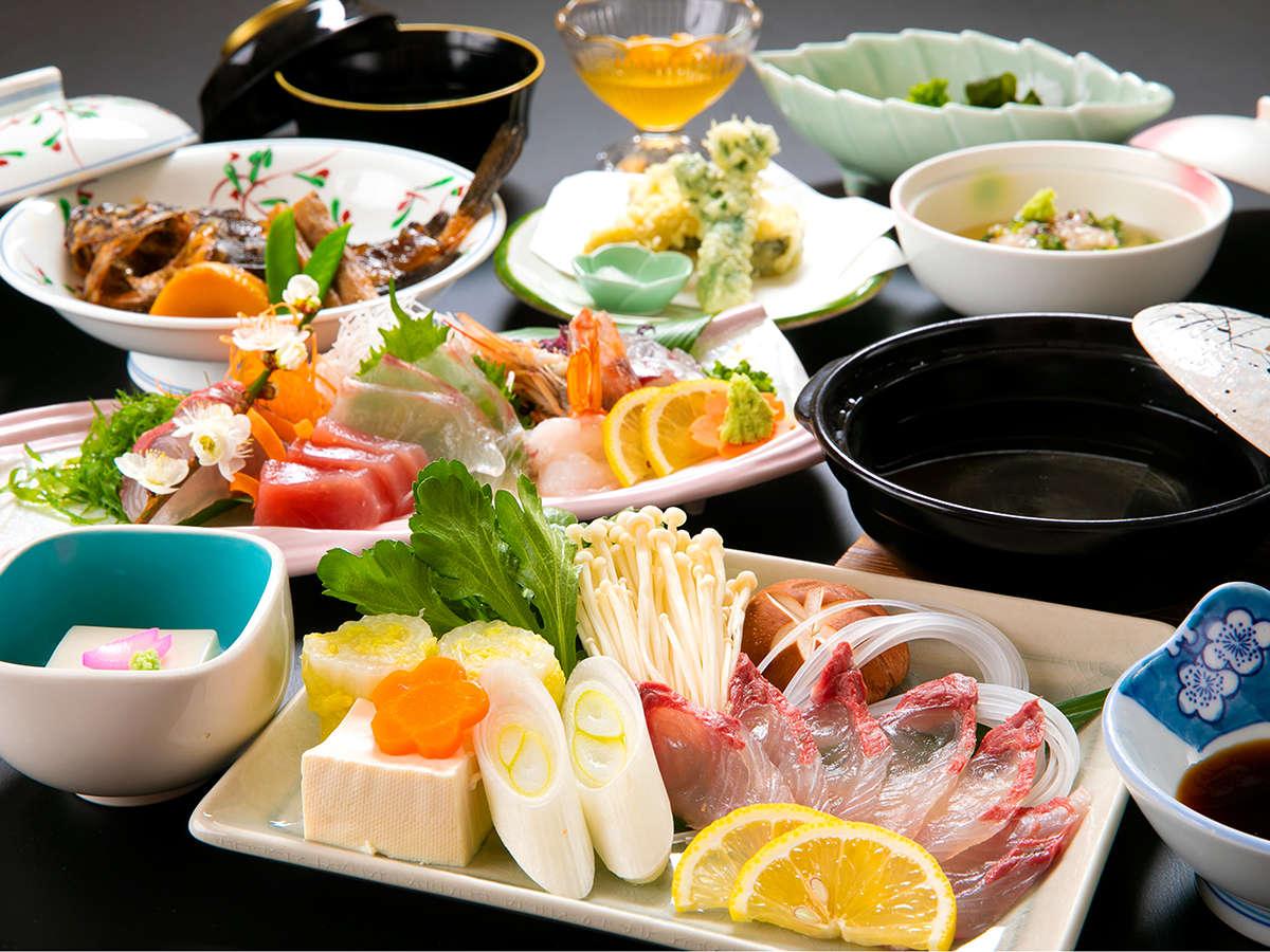 """◆料理長会席◆老舗料理旅館""""がてがける「海の幸会席」"""