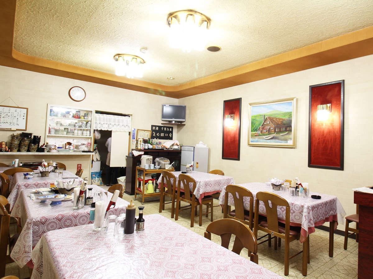 *【施設/食堂】自慢の夕朝食はこちらでどうぞ!