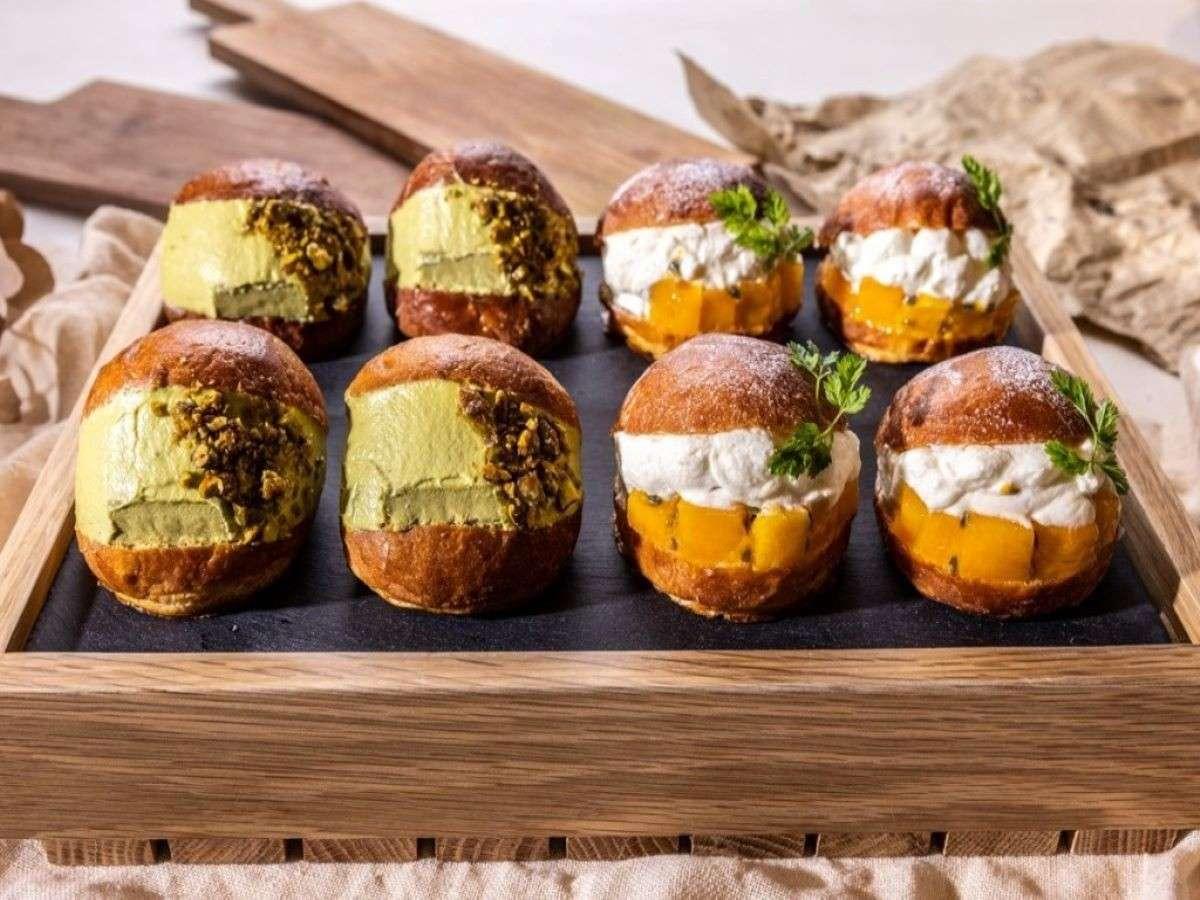 マリトッツォ:ピスタチオ&季節のフルーツ