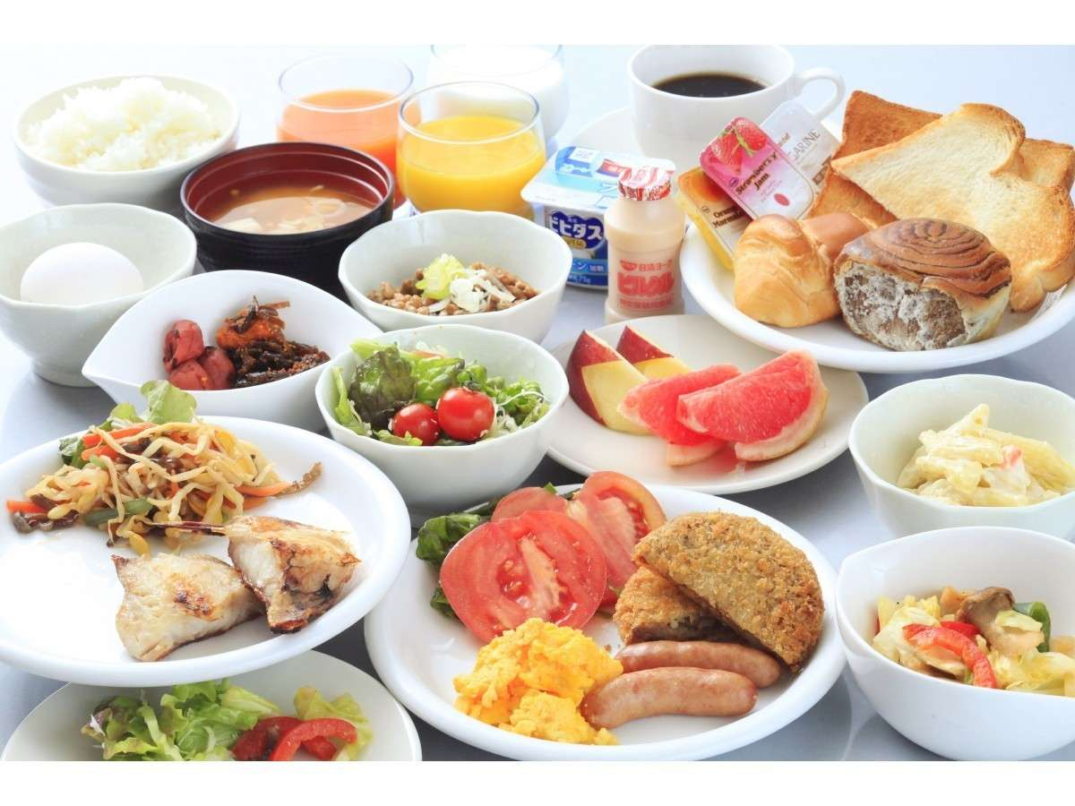 朝食ブッフェ。営業時間6:30a.m.~9:00a.m.