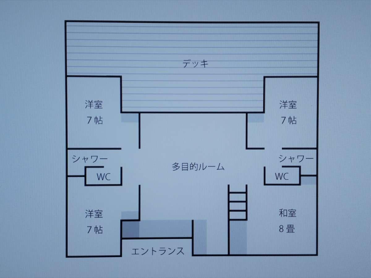 宿泊棟の配置図
