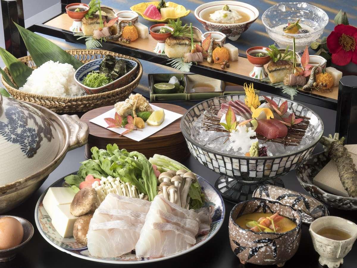 期間限定よくばり会席/雑炊までお召し上がりくださいませ~旬会席+クエ鍋!!
