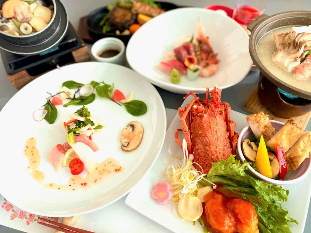 【北海道十勝グレードアップ膳】地元素材を生かした郷土料理です。ゆっくりご堪能ください。