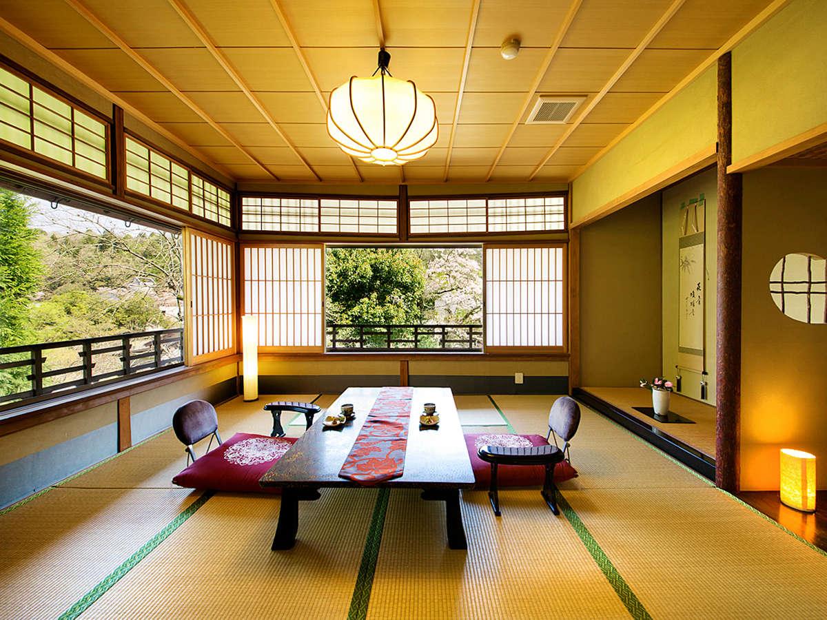 """【蓬莱の間-HOURAI-】""""優美で閑静"""" 自然の秀麗な姿を望める客室"""