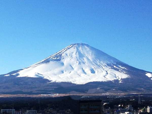 富士山側客室から見た富士山(客室・階・天候によって見え方が異なります)