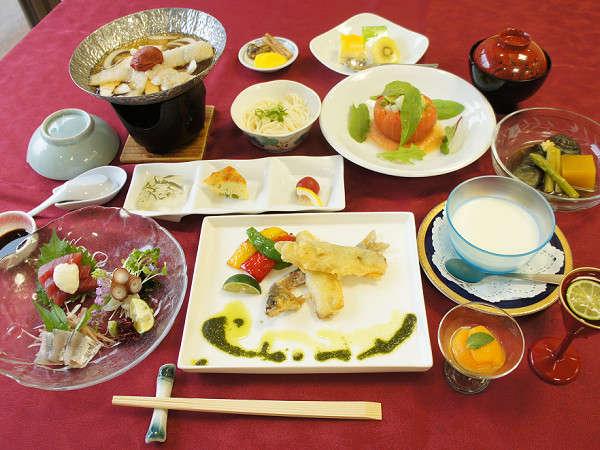 神山の恵み山彩膳(2018年 夏)※一部メニューは変更になる場合がございます。