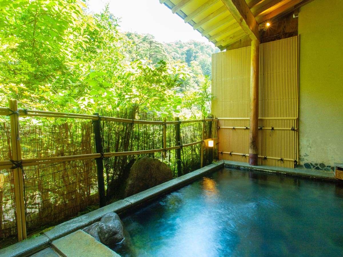 【河鹿】露天風呂~山の四季折々の呼吸と自然を感じながらゆったり愉しむ。~