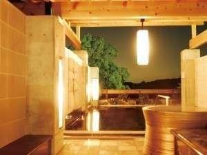 『天然温泉 平蔵の湯 』天然温泉の露天風呂