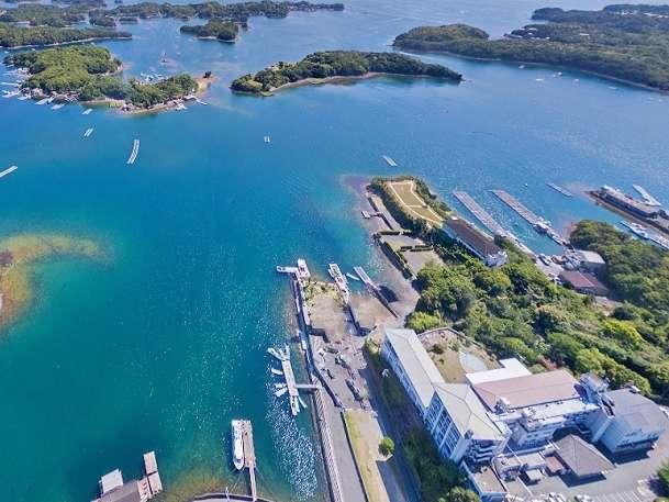 伊勢志摩国立公園賢島、高台より英虞湾を望む絶景を。