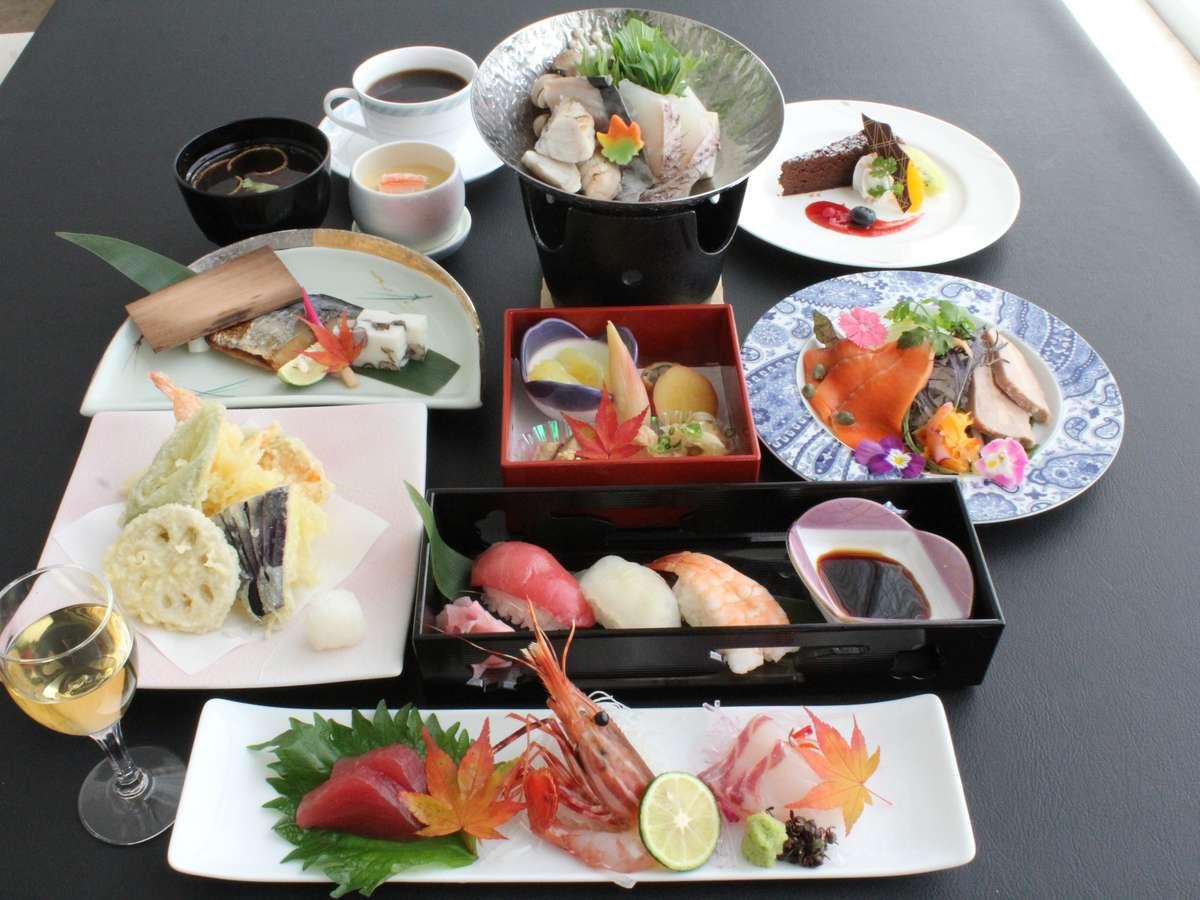 和食と洋食のコラボメニュー