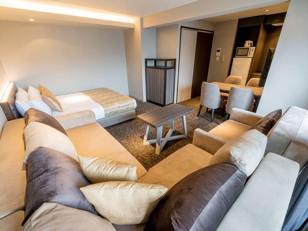 1Queen bed sofa bed A