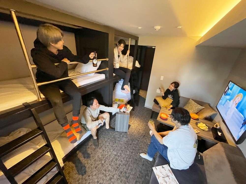 グループ旅行に最適な2段ベッドのお部屋★