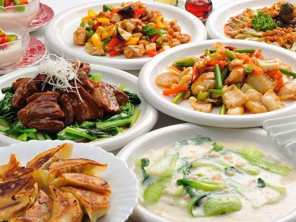 「ペンションで中華は珍しいね」と喜ばれているウッドチャック自慢の7品の中華コース