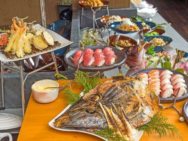 ◆ディナーブッフェ/握りずしや揚げたての天ぷらなど出来立てのお料理も!※イメージ